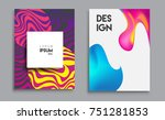 covers templates set with... | Shutterstock .eps vector #751281853