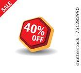 40  off sale discount banner.... | Shutterstock .eps vector #751282990