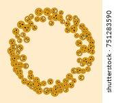 vector confetti background... | Shutterstock .eps vector #751283590