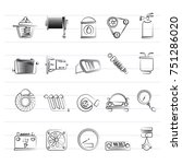 car part and services icons 2   ... | Shutterstock .eps vector #751286020