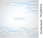 abstract technological... | Shutterstock .eps vector #751289476