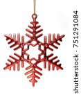 christmas snowflake isolated on ... | Shutterstock . vector #751291084