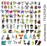 monsters collection | Shutterstock .eps vector #751292920