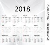 calendar 2019 year in simple... | Shutterstock .eps vector #751294540