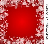 christmas frame with falling... | Shutterstock .eps vector #751295890
