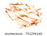 tomato sauce splashes isolated... | Shutterstock . vector #751296160