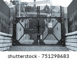 industrial power grid plant... | Shutterstock . vector #751298683