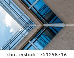 abstract image of looking up at ... | Shutterstock . vector #751298716