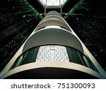 abstract building interior of... | Shutterstock . vector #751300093