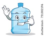 call me gallon character... | Shutterstock .eps vector #751302196