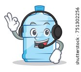 with headphone gallon character ... | Shutterstock .eps vector #751302256
