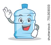 okay gallon character cartoon... | Shutterstock .eps vector #751303033