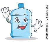 waving gallon character cartoon ... | Shutterstock .eps vector #751303159