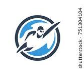 water sports. swimming logo.... | Shutterstock .eps vector #751304104