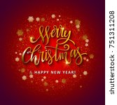 gold glittering star dust circle | Shutterstock .eps vector #751311208