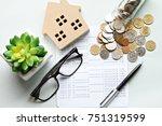 business  finance  saving money ... | Shutterstock . vector #751319599