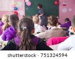 school children are... | Shutterstock . vector #751324594