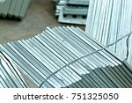 hot dip galvanized steel member ... | Shutterstock . vector #751325050