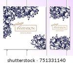 vintage delicate invitation... | Shutterstock . vector #751331140