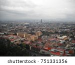 mexico city panoramic view.... | Shutterstock . vector #751331356
