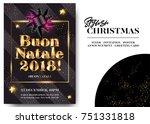 buon natale 2018 merry... | Shutterstock .eps vector #751331818