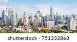 bangkok thailand towers and... | Shutterstock . vector #751332868