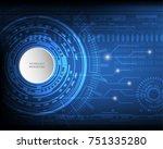 digital future technology... | Shutterstock .eps vector #751335280