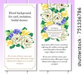 invitation with floral... | Shutterstock . vector #751336786