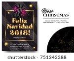feliz navidad 2018 merry... | Shutterstock .eps vector #751342288