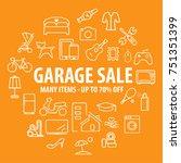 garage or yard sale banner... | Shutterstock .eps vector #751351399