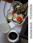 breakfast with coffee   Shutterstock . vector #751352026