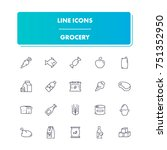 32. line icons set. grocery...