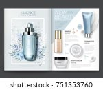 cosmetic magazine template ... | Shutterstock .eps vector #751353760