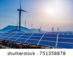 solar and wind power  clean... | Shutterstock . vector #751358878