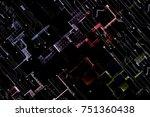 sparkling circuit hi tech... | Shutterstock . vector #751360438