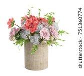 bouquet of blossoming random... | Shutterstock . vector #751360774