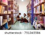 student attention reading... | Shutterstock . vector #751365586