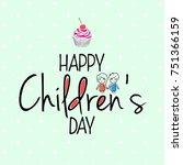 children s day vector background | Shutterstock .eps vector #751366159