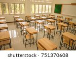 lecture room or school empty... | Shutterstock . vector #751370608