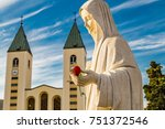 statue of the blessed virgin... | Shutterstock . vector #751372546