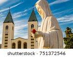 statue of the blessed virgin...   Shutterstock . vector #751372546