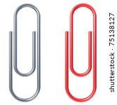 Paper Clip Isolated Over White...