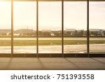 airport terminal glass windows  ... | Shutterstock . vector #751393558