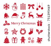 christmas icon | Shutterstock .eps vector #751395469