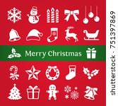 christmas icon | Shutterstock .eps vector #751397869