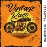 vintage vector motorcycle... | Shutterstock .eps vector #751399114