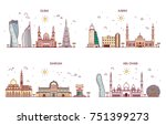 detailed architecture of abu... | Shutterstock .eps vector #751399273