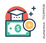 educational loan and... | Shutterstock .eps vector #751399528