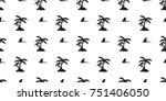 shark fin coconut tree palm... | Shutterstock .eps vector #751406050