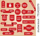 sale label collection. sale... | Shutterstock . vector #751422370